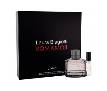 Laura Biagiotti Romamor Uomo EDT 75 ml a miniaturka EDT 10 ml