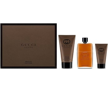 Gucci Guilty Absolute Pour Homme Gift Set EDP 90 ml, After Shave Balsam 50 ml and Shower Gel 150 ml