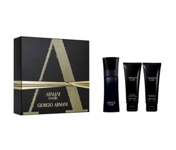 Armani Code for Men Gift Set EDT 75 ml, after shave balm Code for Men 75 ml and shower gel Code for Men 75 ml