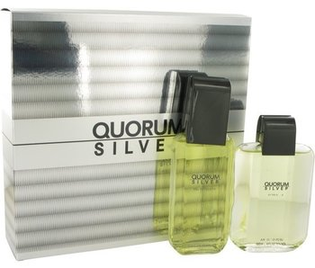 Antonio Puig Quorum Silver Gift Set 100 ml EDT and aftershave Quorum Silver 100 ml