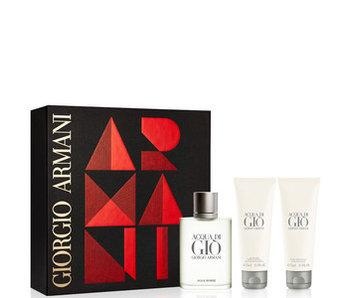 Giorgio Armani Acqua Di Gio EDT 100ml + SHOWER GEL + Aftershave Balm