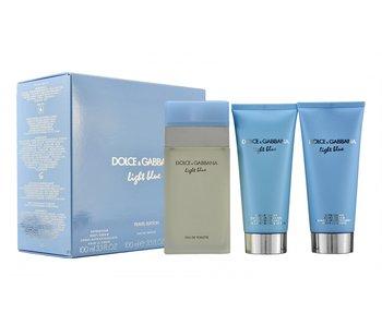 Dolce & Gabanna DOLCE&GABBANA Light Blue Travel Edition Woman EDT + BODY CREAM + SHOWER GEL