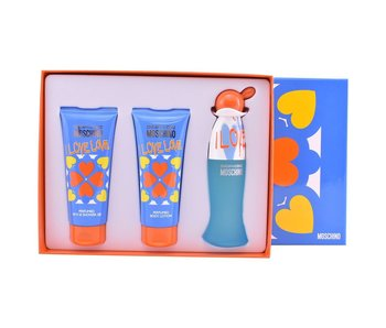 Moschino I Love Love Gift Set EDT 50ml, Body Lotion I Love Love 100 ml and shower gel I Love Love 100 ml