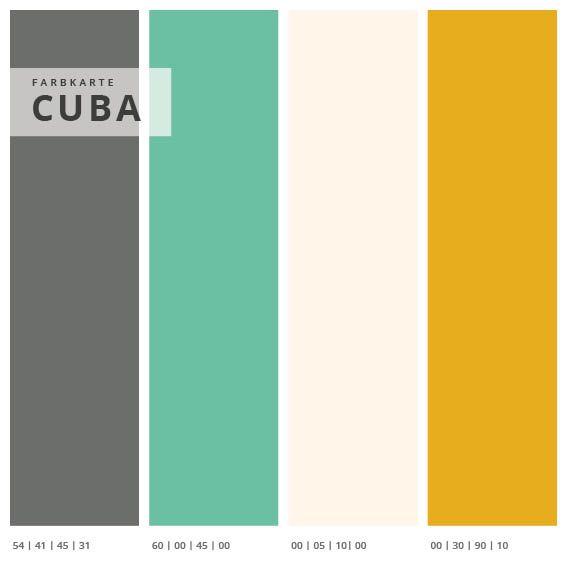 Wandabsorber 3er Set Cuba, Format 1:1