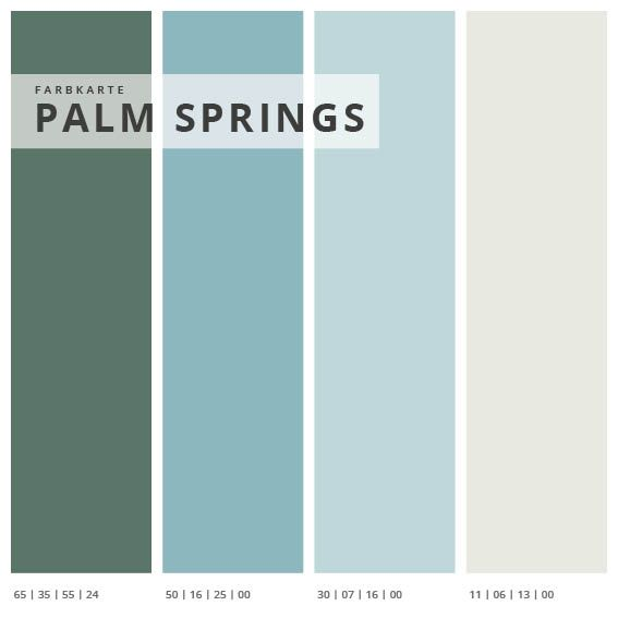 Wandabsorber 3er Set Palm Springs, Format 1:1