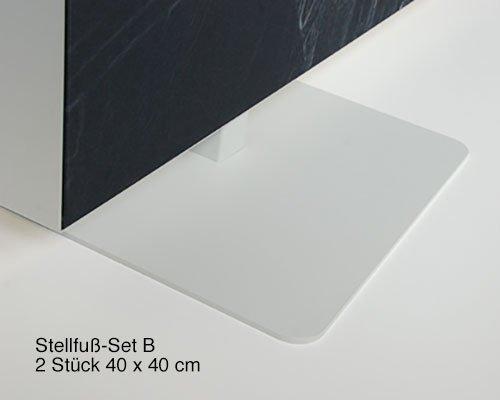 Akustik Raumteiler 110 cm breit, unifarben