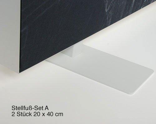 Akustik Raumteiler 130 cm breit, unifarben