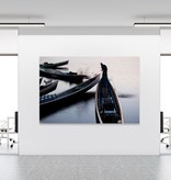 "Akustikbild mit Motiv ""BOATS IN MORNING MIST - INLAY LAKE"" - Burma"