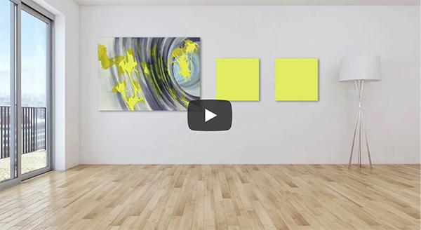 Akustikbilder mit Kunst für Büros