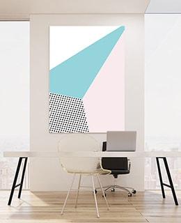 Schallabsorbierende Bilder mit Design