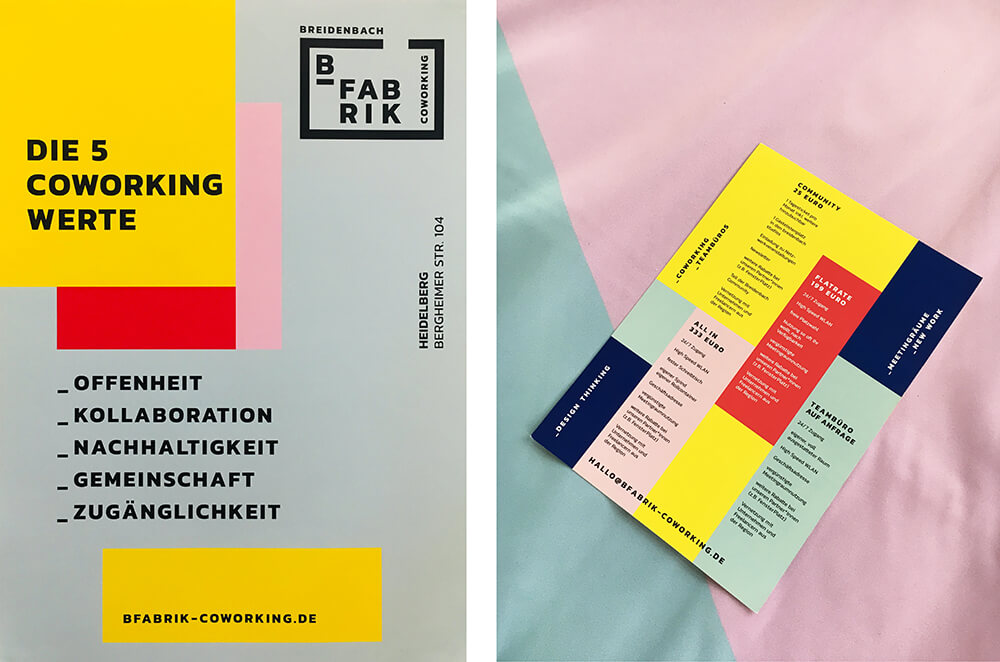 Lärmdämmung Wand: Akustikbilder in den Corporate Design Farben