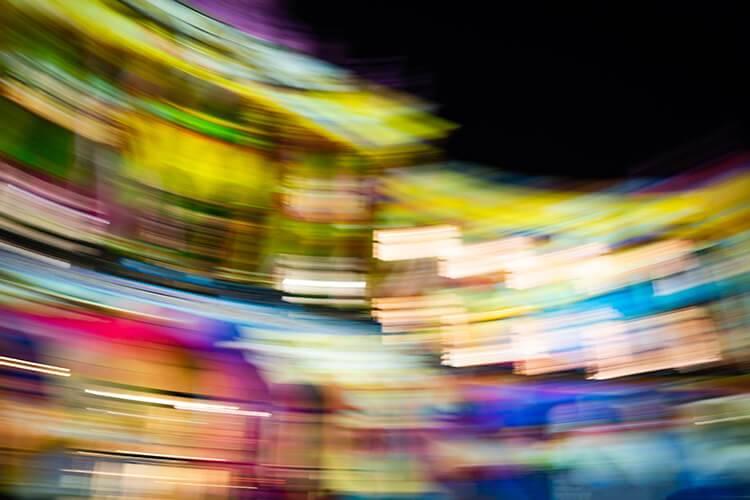 """Akustikbild mit Motiv """"Rotating House"""""""