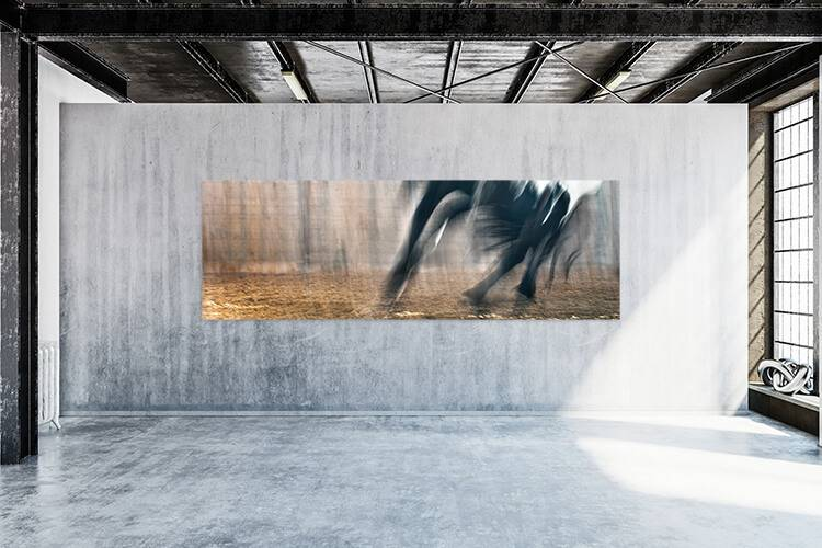 """Akustikbild mit Motiv """"Run 09"""" - Panorama-Format"""