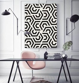 "Akustikbild mit Boho-Design ""Black and White"""