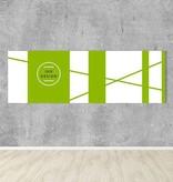 Akustikbilder Kundenmotiv, Format 3:1, farbiger Rahmen