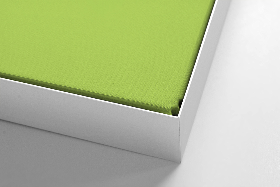 Schallabsorber  für Beamerprojektion weißer Rahmen, Format 4:3