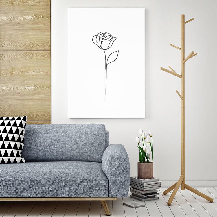 """Akustikbild mit Design """"Rose"""" - individualisierbar"""