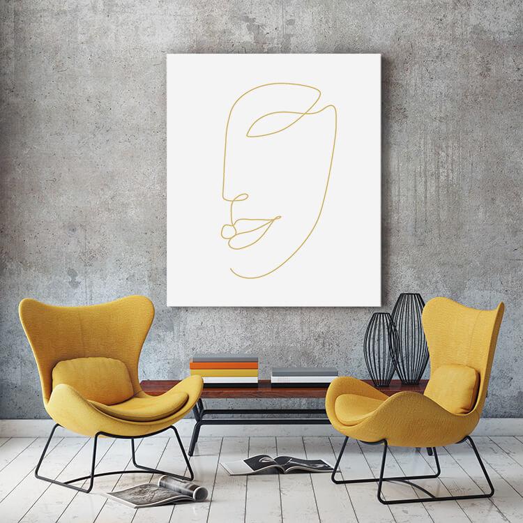 "Akustikbild mit Design ""Face"" - individualisierbar"