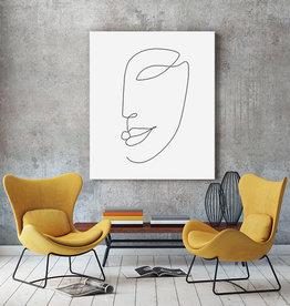 "Akustikbild Design ""Face""  anpassbar"