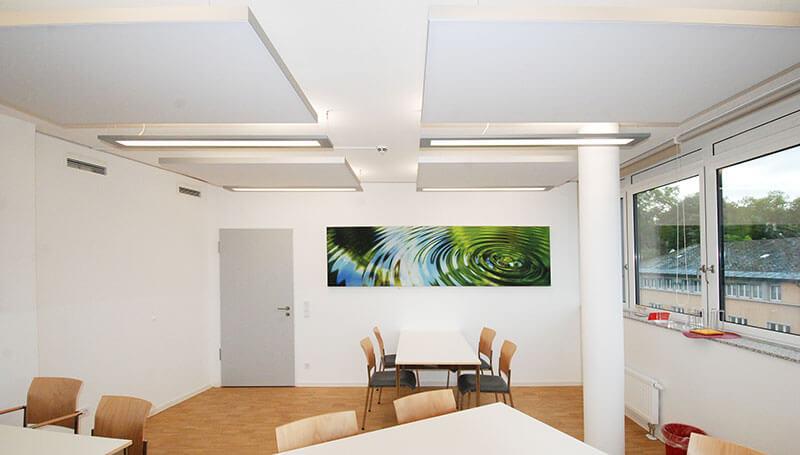 Moderne Wandbilder gegen Schallprobleme