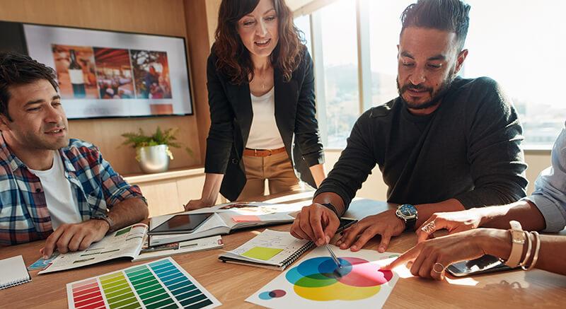 Bilder Büro - gestalten als Teamprojekt