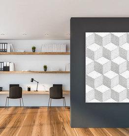 """Akustikbild mit Design """"Cube"""" - anpassbar"""