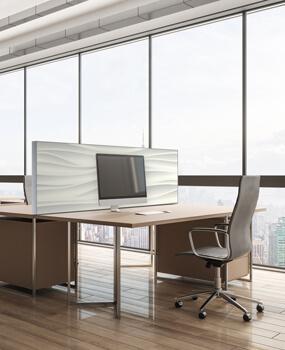 Akustik Tisch Trennwände Büro