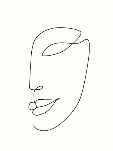 """Akustikbild mit Design """"Face"""""""