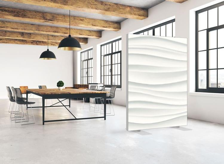 """Akustik Raumteiler mit Design """"Waves"""""""