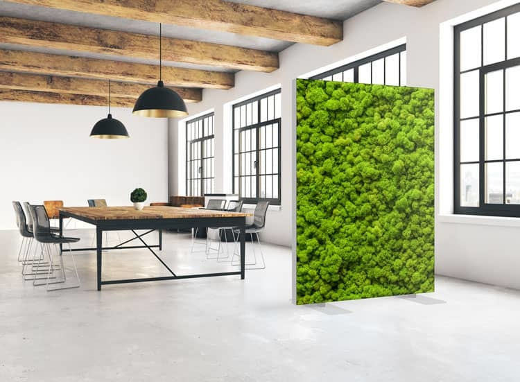 """Akustik Raumteiler mit Kunstmotiv """"Moss Wall"""""""
