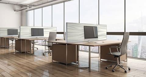 Schalldämmung für Callcenter Tisch-Trennwände