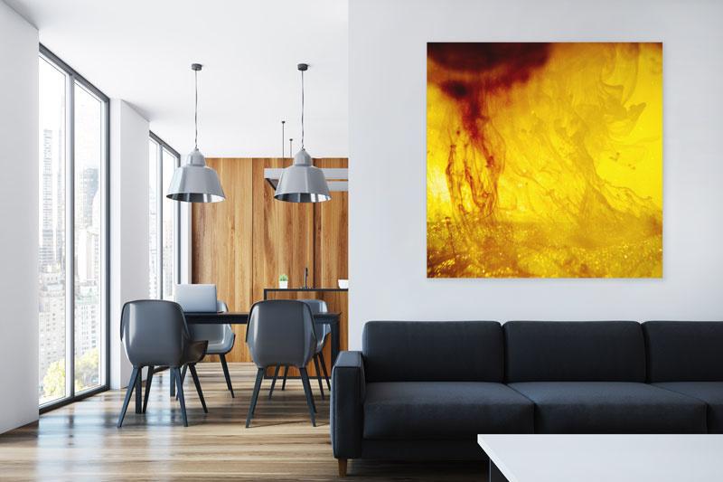 Wandgestaltung Büro und Wohnzimmer mit Bildern online kaufen