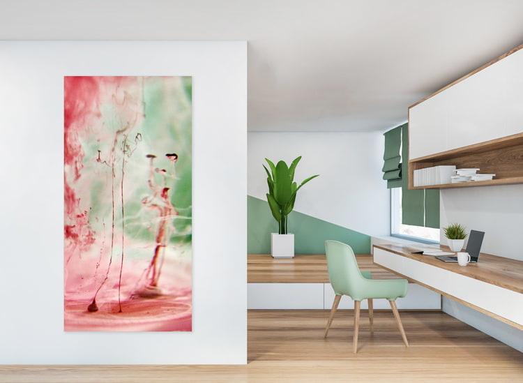 Wandgestaltung Wohnzimmer - Büro Wandgestaltung