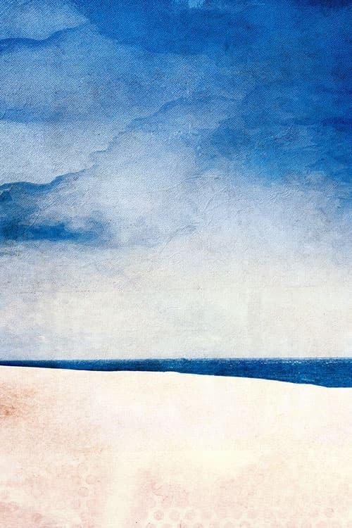 """Leinwanddruck """"Der blaue Wind"""" ohne Akustikdämmung"""