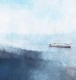 """Leinwandprint """"Fischerboot am Hafen"""" ohne Akustikdämmung"""