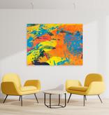 """Kunst auf Leinwand """"Sahel"""" ohne Akustikdämmung"""