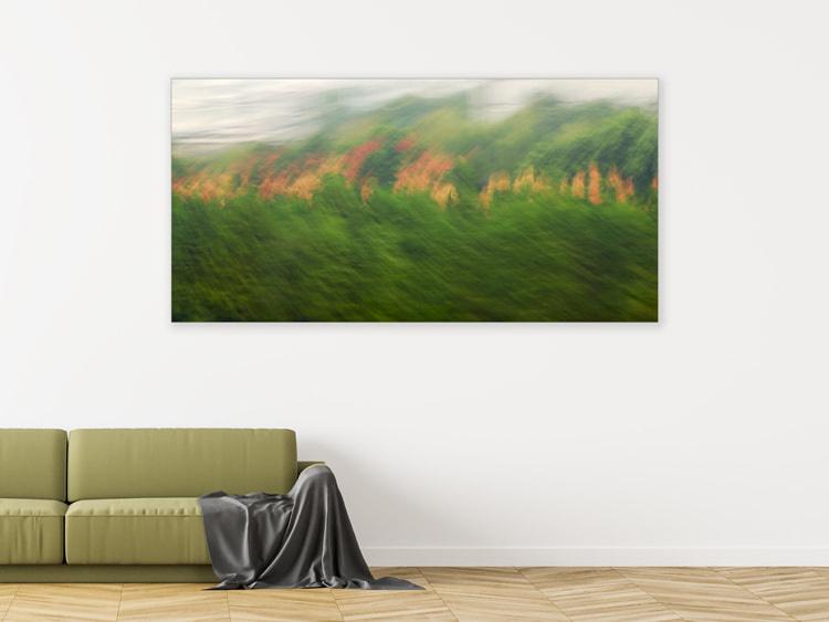 "Leinwandprint ""Blätterwand"" - ohne Akustikämmung"
