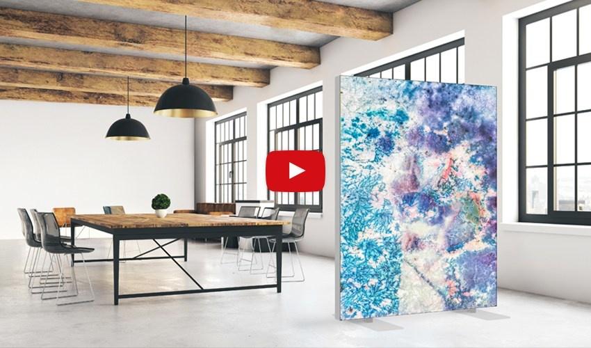 Akustik Raumteiler mit Design