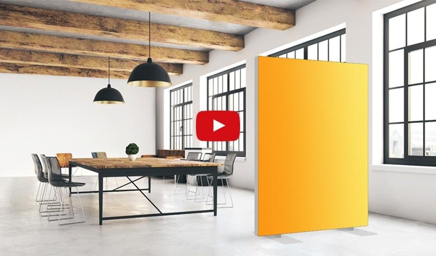 Akustik-Raumteiler unifarben