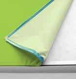 Deckensegel silberner Rahmen im Format 1:1