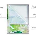 Deckensegel silberner Rahmen, Format 3:4