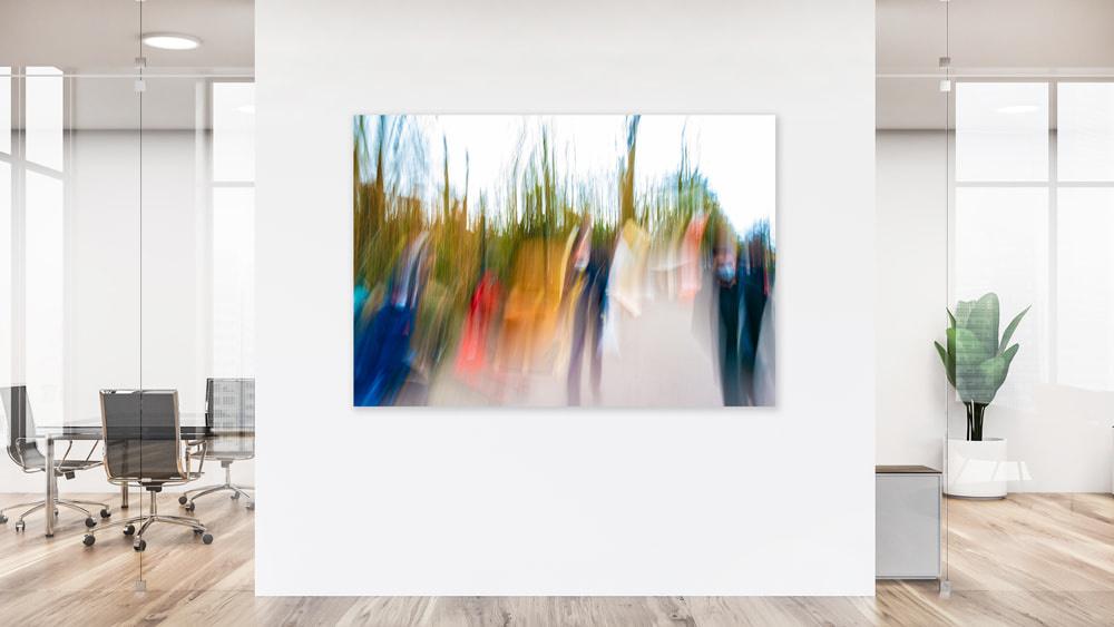 """Akustikbild mit Kunstmotiv """"Marktplatz III"""""""