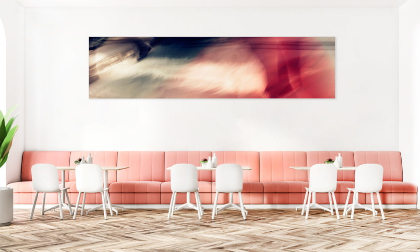 """Akustikbild mit Motiv """"Gentle step"""" - Panorama-Format"""