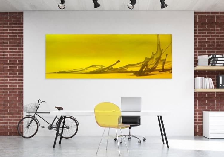 "Leinwand ""Yellow Storm"" ohne Dämmung"