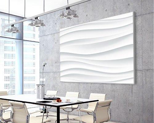 "Akustikbild mit Design ""Waves"" - individualisierbar"