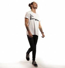 RUR T-Shirt Heren WIT, Recht Uit Rotterdam