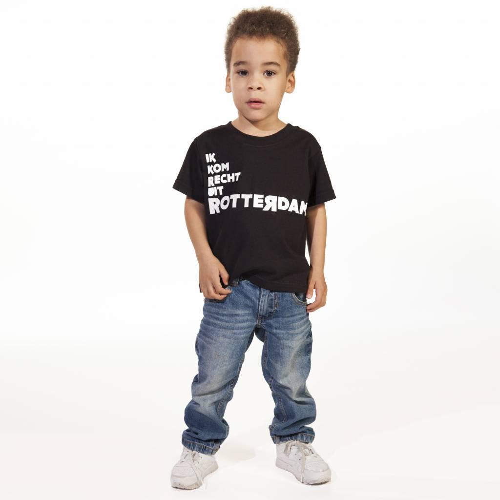 RUR T-Shirt Kids ZWART, Recht Uit Rotterdam