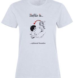 Made In Rttrdm Liefde is... afstand houden Dames T-shirt