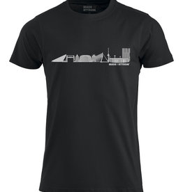Made In Rttrdm Rotterdam Skyline Heren T-Shirt