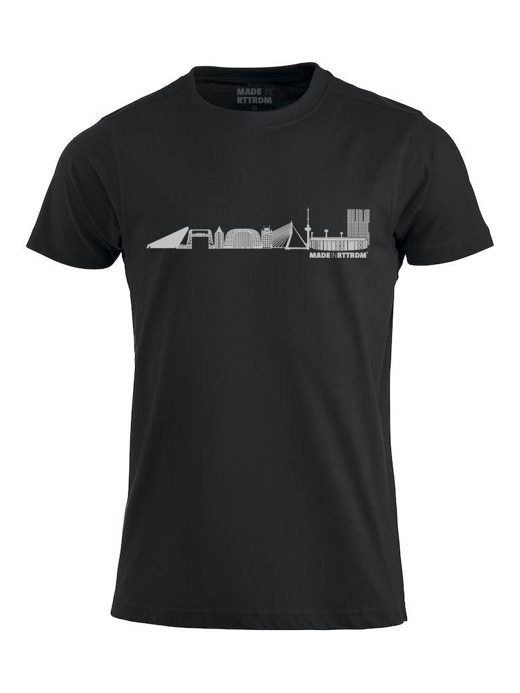 Made In Rttrdm Rotterdam Skyline Heren T-Shirt